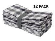 Gingham Checks Oversized Dinner Napkins - Set of 12
