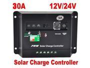 30A 12V 24V Solar Charge Controller Street Light Regulator Autoswitch Panel 720w
