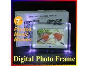 Multi-functional LCD Digital Photo Frame Movies  Music Video MP3 MP4 Player Alarm Clock Calendar Light Lamp with Remote Control 7 inch 7?
