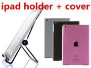 3 Colors TPU Gel Bling Crystal Hard Back Case Cover Skin Protector For iPad Mini Universal Adjustable Stand Holder Foldable for iPad 4 3 iPad Mini Samsung Tab
