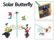 Solar Power Panel Flying Color Butterfly Butterflies Garden Yard Decoration Gifts Crafts 3 PCS/Set