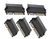 5 pcs SATA 22Pin 7+15 Pin Male Plug to SATA 22Pin 7+15P Female Jack Convertor Adapter