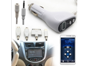 3.5mm Car Kit Wireless LCD FM Transmitter Charger for iPhone 4S 5C 5S sumsung Note 2 3 iPod HTC LG Sony Ericsson Blackberry Nokia smart phone MP3 MP4 tablet PC