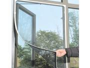 Black DIY Insect Fly Bug Mosquito Door Window Net Mesh Screen Curtain Protector