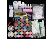 Glitter UV Gel Cleanser Primer Nail beauty Art Kit Set