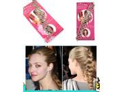 2xFrench Hair Braiding Tool Roller With Magic Hair Twist Styling Bun Maker Fashion 9SIA76H2GU1324
