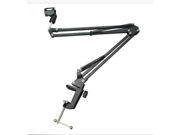 Mic Microphone Suspension Boom Scissor Arm Stand Holder Studio Sound Broadcast