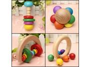 Baby Kid Wooden Rattle Toy Handbell Musical Education Percussion Instrument Gift 9SIA76H2GT0895
