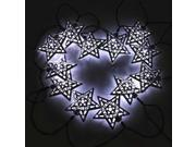 3.6m 3V 12 LED Solar Powered Stars String Fairy Lights Wedding Party Xmas Christmas Decoration Steady & Flash Mode Warm White/Cool White + Solar light panel wit 9SIA76H2GS9053
