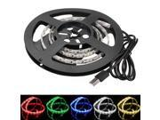 100cm/1M 60LEDs 3528 SMD Epoxy Waterproof LED Strip Light TV Background Light With 5V USB Cable For Computer/Desktop/laptop/ Car Cigar lighter