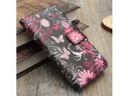 Flower Flip Leather Wallet Card Case Cover Stand For Sony Xperia E3 D2203 D2206