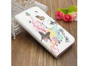 Flower Flip PU Leather Wallet Card Case Cover Stand For Samsung Galaxy Alpha