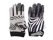 Bike Bicycle Unisex Winter Thermal Windproof Cycling Full Finger Gloves Zebra Pattern