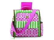 Mud Pie Back Pack, Pink/Green 8613101P