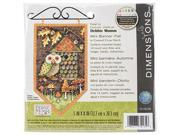 Image of Dimensions 14 Count Debbie Mumm Fall Banner Counted Cross Stitch Kit, 5 by 8-Inch 171226