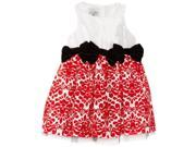 Mud Pie Christmas Diva Red Damask Dress 144A012 5T