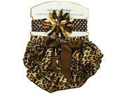 Stephan Baby Ruffled Diaper Cover and Curly Band Gift Set Cheetah Print 18 24 Months 762624