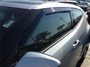 Hyundai Veloster 2011-2016 Window Vent Visor/Deflector Rain Guards 3 piece set - JSP®218018