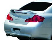 Infiniti G35 4Dr 2007-2009 Factory Style Rear Spoiler with LED Primed JSP 339095