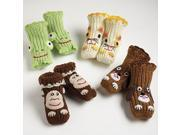 Ani-Mates Baby Slipper Socks by Two's Company - 9044-20