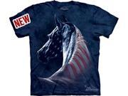Patriotic Horse Adult T-Shirt by The Mountain - 10-3381