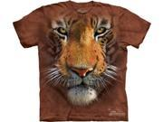 Tiger Face Adult T-Shirt by The Mountain - 10-3251