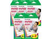 Fujifilm Fuji Instant Mini Film For Instax Mini 7s, 50s 5 Pack 100 Prints