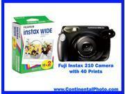 Fuji Fujifilm Instax 210 Instant Film Camera with 40 Instax Wide Prints