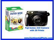 Fuji Fujifilm Instax 210 Instant Film Camera with 20 Instax Wide Prints NEW