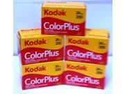 5 Rolls Of Kodak Colorplus 200 asa 24 exposure
