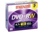 634045 4x Rewritable DVD+RW - 5 Pack