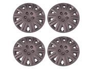 Set of 4 Silver 17 Inch Aftermarket Replacement Hubcaps with Metal Clip Retention System - Aftermarket Part: IWC419/17S