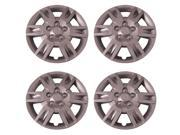 Set of 4 Silver 16 Inch (6 spoke Nissan Altima Replica Hubcap) Wheel Cover with Clip Retention - Aftermarket : IWCB8872/16S