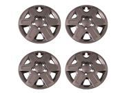 Set of 4 Chrome 16 Inch 6 Spoke Dodge Caravan Hubcaps w/ Bolt On Retention System - Aftermarket: IWC451/16C
