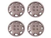 Set of 4 Silver 15 Inch 1998 to 2002 Honda Accord Replica Replacement Hubcaps w Metal Clip Retention System - 124/15S