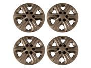 Set of 4 Chrome 17 Inch Aftermarket Replacement Hubcaps for a Bolt On Retention System - Aftermarket Part: IWC454/17C