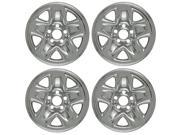 "Set of 4 Chrome 15"" Wheel Skin Hub Caps With Center For Toyota Tacoma (2001 -2004 with 5 dimpled Spokes) 15x6 Inch 5 Lug Steel Rim: IMP/31X"