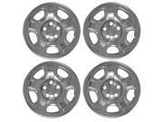Set of 4 Chrome Wheel Skin Hub Covers With Center For 16x7 Inch 5 Lug Steel Rim - Aftermarket Part: IWCIMP/40X