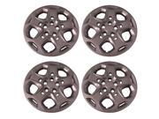 Set of 4 Silver 17 Inch Ford Fusion 5 Spoke Hubcaps w/ Bolt On Retention System - Aftermarket: IWC457/17S