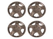 Set of 4 Silver 16 Inch (Nissan Altima 5 Spoke Replica Hubcaps) Wheel Covers with Clip Retention - Aftermarket: IWCB942/16S