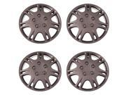 Set of 4 Silver 15 Inch Universal 7 Slot Mitsubishi Galant Replica Hubcaps Wheel Covers w Clip Retention Aftermarket IWCB8813 15S