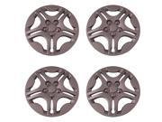 Set of 4 Silver 15 Inch Aftermarket Replacement Hubcaps with Metal Clip Retention System - Aftermarket Part: IWC428/15S