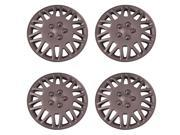Set of 4 Silver 15 Inch Aftermarket Replacement Hubcaps with Metal Clip Retention System - Aftermarket Part: IWC406/15S