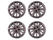Set of 4 Chrome 15 Inch Chevy Cobalt 12 Spoke Replacement Hubcaps w/ Bolt On Retention System - Aftermarket: IWC453/15C