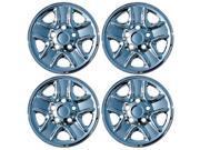 Set of 4 Chrome 18 Hub cap Wheel Skins w Center: 2007- 2014 Toyota Tundra 18x8 Inch 5 Lug Steel Rim -aftermarket: IMP/77X