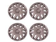 Set of 4 Silver 16 Inch Aftermarket Replacement Hubcaps with Metal Clip Retention System - Aftermarket Part: IWC416/16S