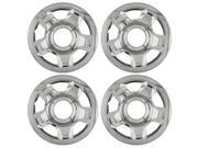 "Set of 4 Chrome 17"" Hub Cap Wheel Skins: 2003 - 2005 Ford Expedition 17x7 Inch 6 Lug 5 Slot Steel Rim -aftermarket: IWCIMP/53X"