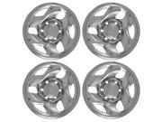 "Set of 4 16"" Chrome Wheel Skin Hub caps w Center: 2001 -2004 Toyota Tacoma w 16x7 Inch 6 Lug Steel Rim -aftermarket: IMP/43X"