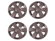 Set of 4 Silver 15 Inch Aftermarket Replacement Hubcaps with Clip Retention System Aftermarket Part IWC436 15S