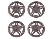 Set of 4 Chrome 15 Inch Aftermarket Replacement Hubcaps with Metal Clip Retention System Aftermarket Part IWC428 15C